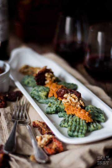 Rezept Spinat-Gnocchi mit Walnusspesto