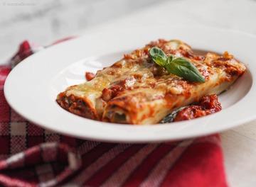 Rezept Spinat Lasagne Roll-ups