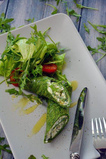 Rezept Spinat Palatschinken mit Käse
