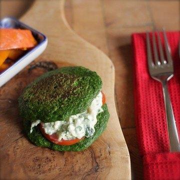 Rezept Spinat-Pfannekuchen mit Forellencremè