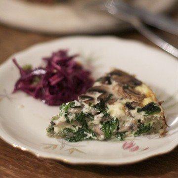 Rezept Spinat-Pilze Quiche