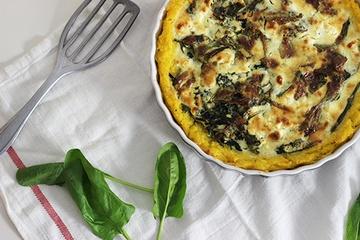 Rezept Spinat-Polenta-Quiche mit Feta