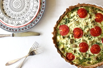 Rezept Spinat-Quiche