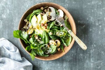 Rezept Spinatsalat mit Champignons und Avocado