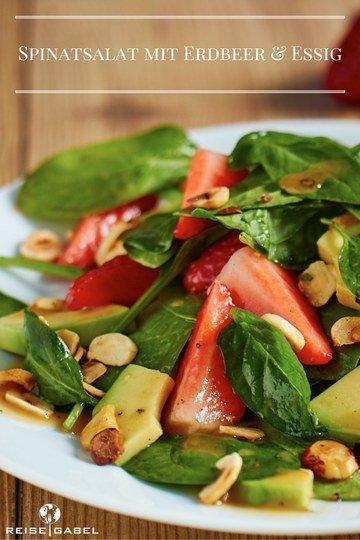 Rezept Spinatsalat mit Erdbeeren und Avocado