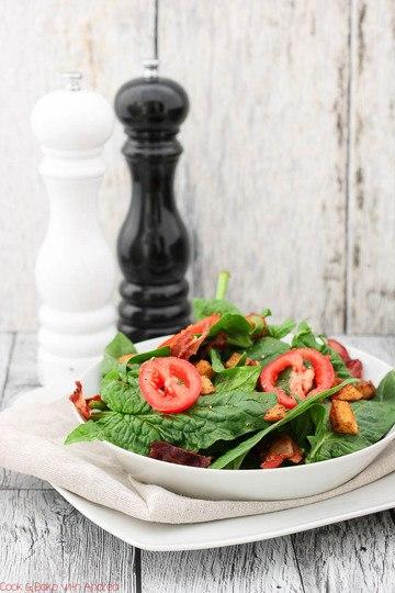 Rezept Spinatsalat mit gebratenen Kartoffelwürfeln