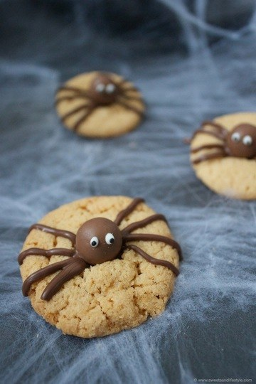 Rezept Spinnencookies für Halloween