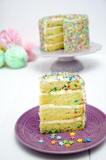Rezept Sprinkles Cake - Funfetti Torte