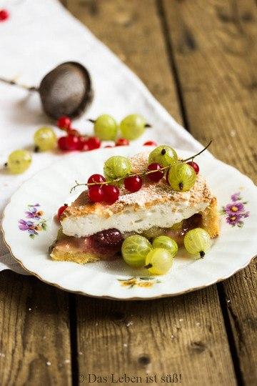 Rezept Stachelbeer-Baiser-Kuchen