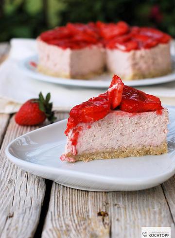 Rezept Steamed Erdbeer-Cheesecake