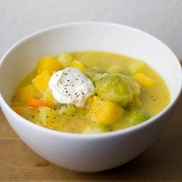 Rezept Steckrüben-Kartoffel-Eintopf mit Rosenkohl