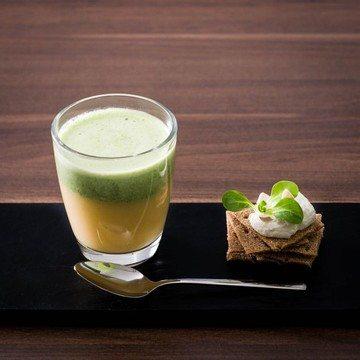 Rezept Steckrübencreme | Feldsalat | Ziegenkäse | Knäckebröd