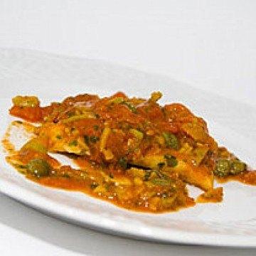 Rezept Steinbutt in Tomatensauce