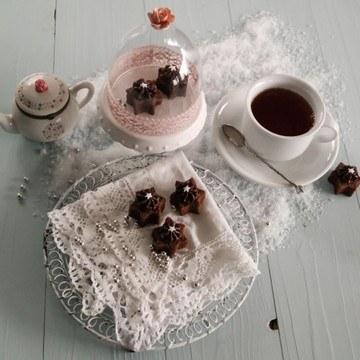 Rezept Sternchen-Brownies mit Kaffeeganache