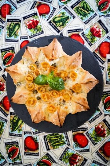 Rezept Sternpizza mit Ricotta-Rand