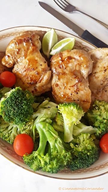 Rezept Sticky Maple, Lime & Ginger Chicken