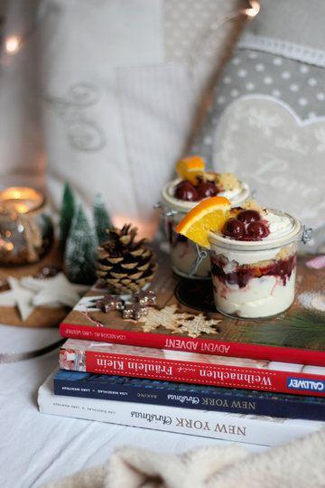 Rezept Stollen Dessert mit Glühweinkirschen