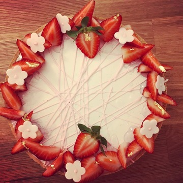 Rezept Strawberry cheesecake entrement