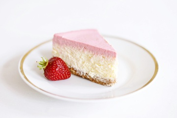 Rezept Strawberry Cheesecake - Käsekuchen mit Erdbeer-Topping