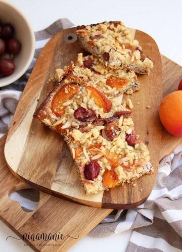 Rezept Streusel-Mohnkuchen mit Quark und Aprikosen