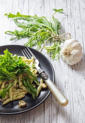 Rezept Strozzapreti mit Rucola und Kräuterseitlingen