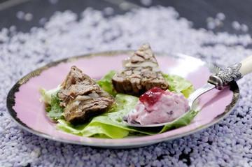 Rezept Sülze vom Reh an Preiselbeer-Senf-Sauce