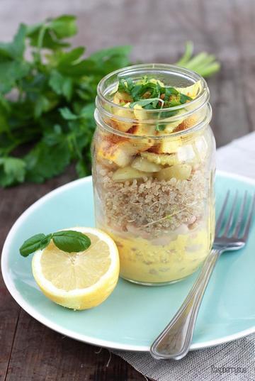 Rezept Sunshine Salad im Glas
