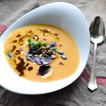 Rezept Suppe aus ofengeröstetem Gemüse