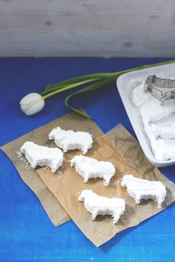 Rezept Süße Marshmallow-Kokos-Schäfchen
