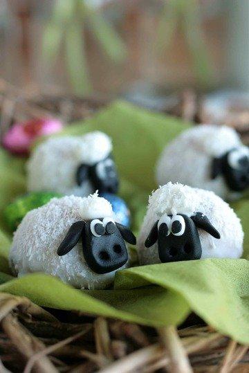 Rezept Süße Osterdeko: Eierlikörschafe