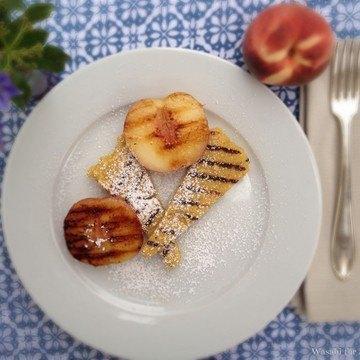 Rezept Süße Polenta mit gegrillten Pfirsichen