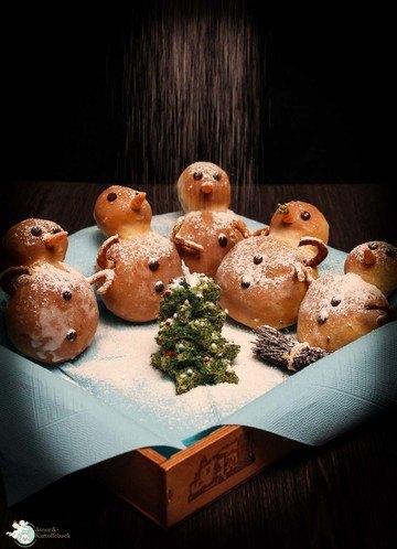 Rezept Süße Schneemänner mit Überraschungsbauch