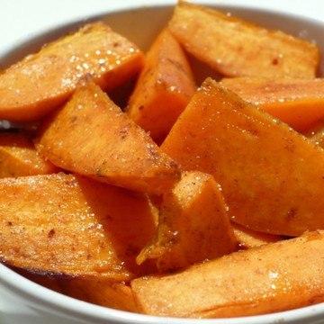 Rezept Süße Süßkartoffel-Spalten