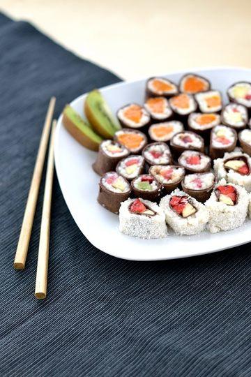 Rezept Süßes Frucht-Sushi