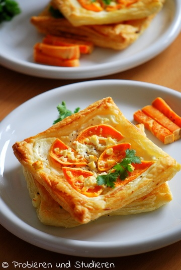 Rezept Süßkartoffel-Blätterteig-Ecken mit Feta