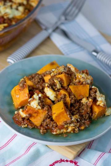 Rezept Süßkartoffel Hackfleisch Auflauf