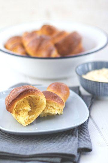 Rezept Süßkartoffel-Hörnchen mit Ahornsirup-Butter