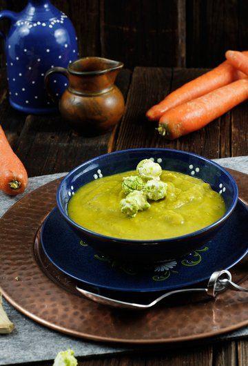 Rezept Süßkartoffel Karotten Suppe mit Curry