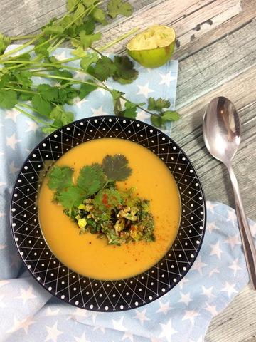 Rezept Süßkartoffel-Kokos-Suppe