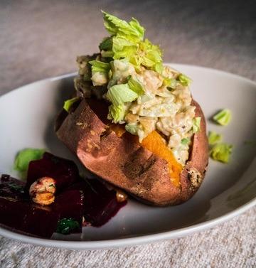 Rezept Süßkartoffel mit falscher Thunfischfülle {v, gf}