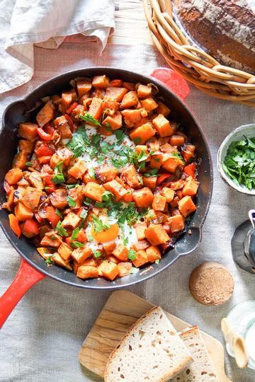 Rezept Süßkartoffel-Pfanne mit Ei