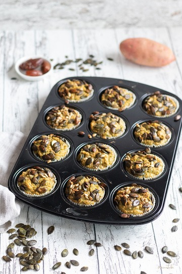 Rezept Süßkartoffel-Spinat-Muffins