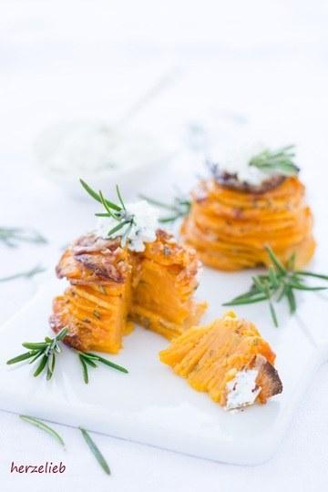 Rezept Süßkartoffel-Türmchen