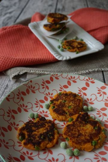 Rezept Süßkartoffelbratlinge mit Erbsen