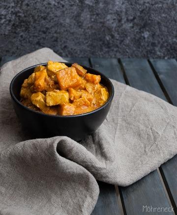 Rezept Süßkartoffelcurry mit Erdnüssen