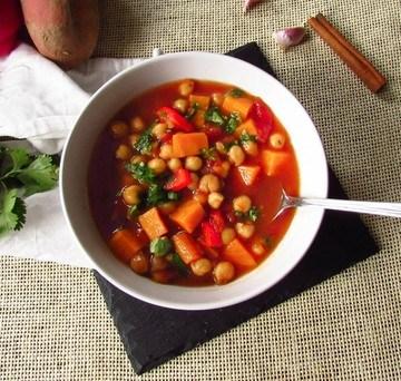 Rezept Süßkartoffeleintopf mit Kichererbsen und Maca
