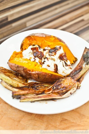 Rezept Süßkartoffeln mit karamellisiertem Fenchel