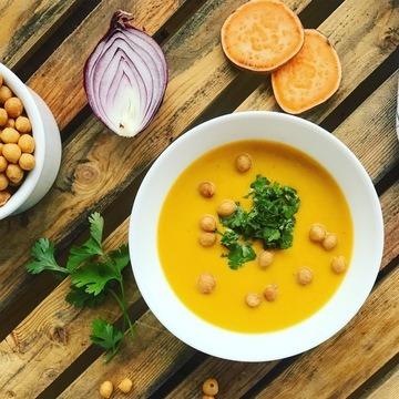 Rezept Süßkartoffelsuppe mit Curry und Koriander