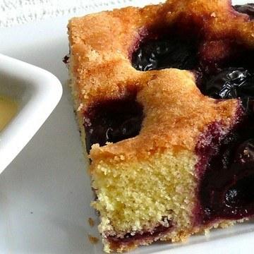 Rezept Süßkirsch-Maiskuchen mit Pimentsauce