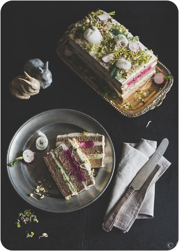 Rezept Svartbröd Smörgåstårta | Schwarzbrot-Sandwichtorte